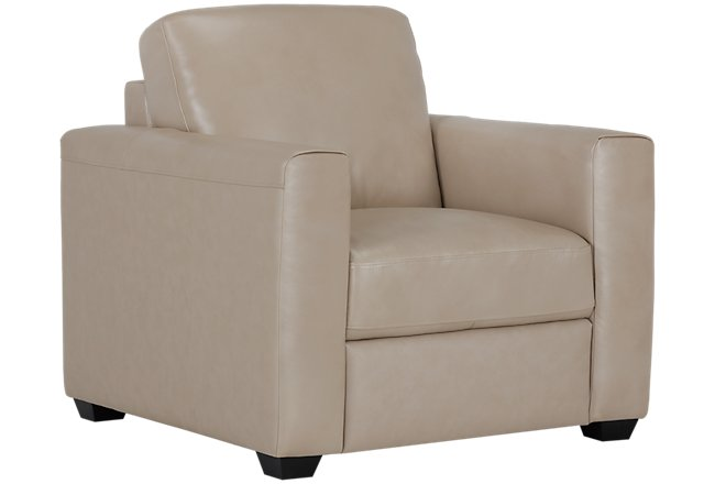 Lane Taupe Leather & Vinyl Chair