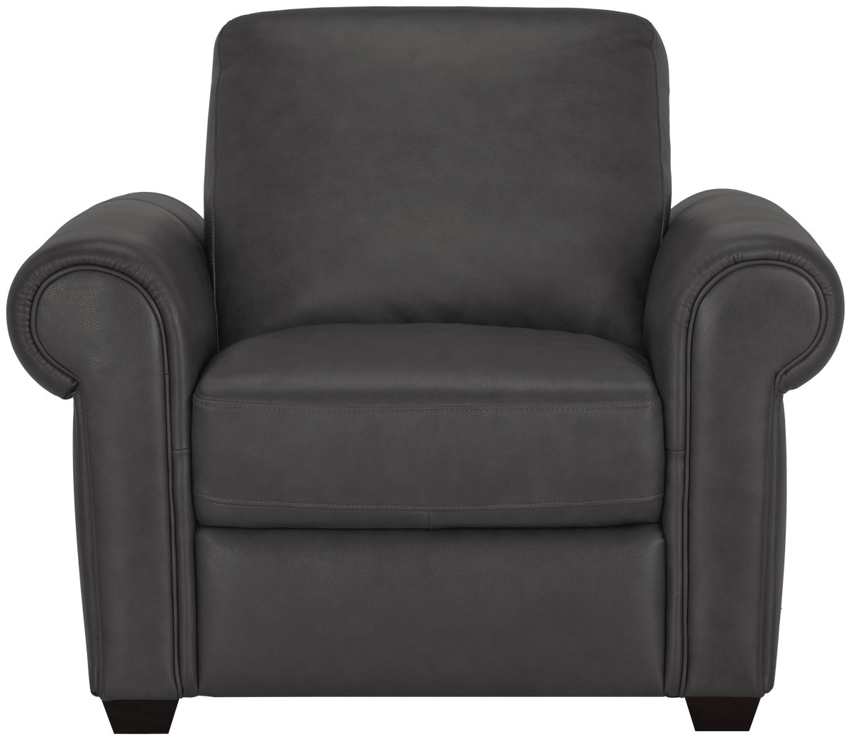Lincoln Dark Gray Leather & Vinyl Chair