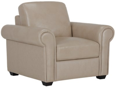 Lincoln Taupe Leather U0026 Vinyl Chair