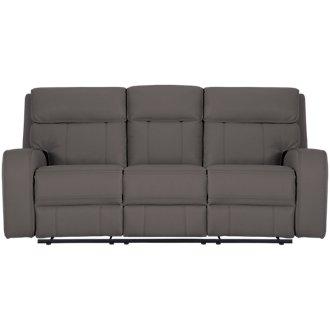Rhett Gray Microfiber Reclining Sofa