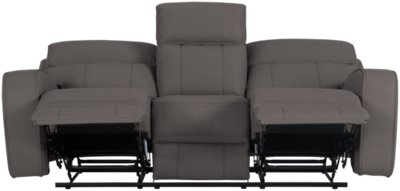Rhett Gray Microfiber Reclining Sofa. VIEW LARGER