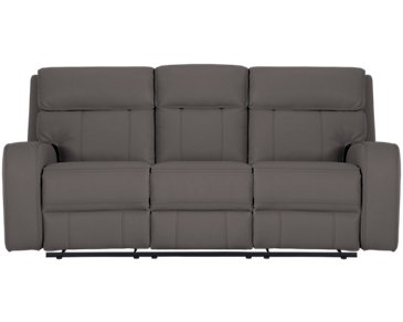 Rhett Gray Microfiber Power Reclining Sofa