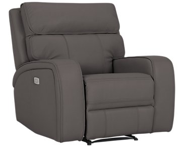 Rhett Gray Microfiber Power Recliner