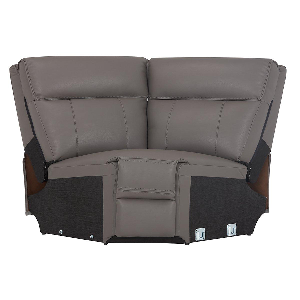 City Furniture Rhett Gray Microfiber Small Two Arm Power