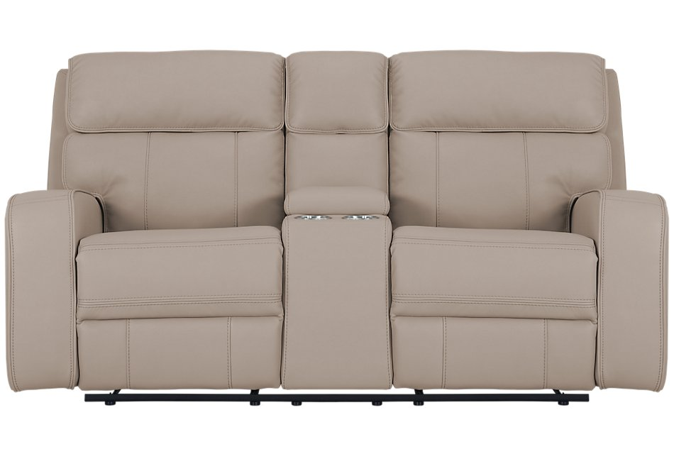 Marvelous Rhett Taupe Micro Power Reclining Console Loveseat Living Lamtechconsult Wood Chair Design Ideas Lamtechconsultcom