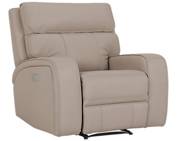 Rhett Taupe Microfiber Power Recliner