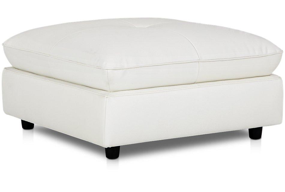 Prime Hudson White Microfiber Ottoman Living Room Ottomans Ncnpc Chair Design For Home Ncnpcorg