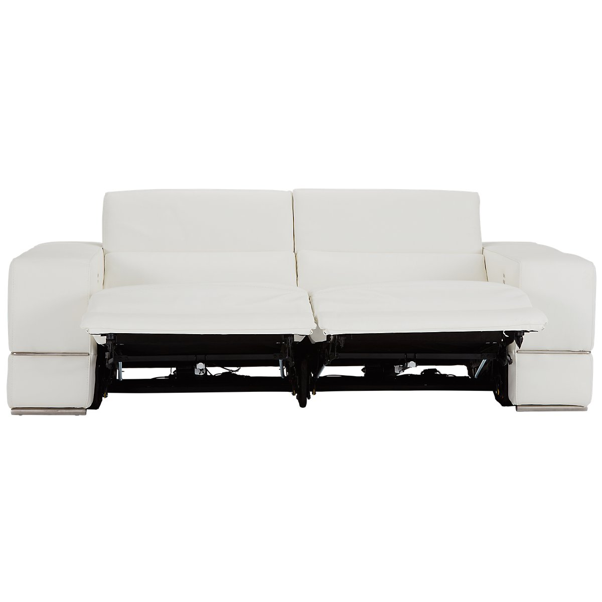 City Furniture: Dante White Leather Power Reclining Living Room