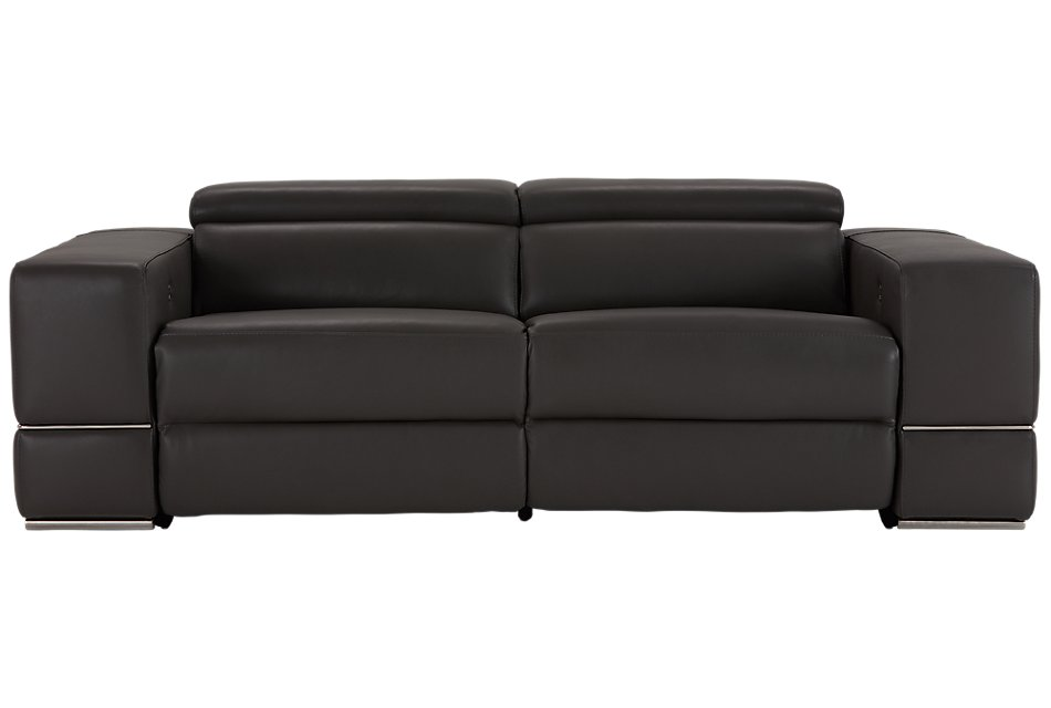 Superb Dante Gray Leather Power Reclining Sofa Living Room Pdpeps Interior Chair Design Pdpepsorg