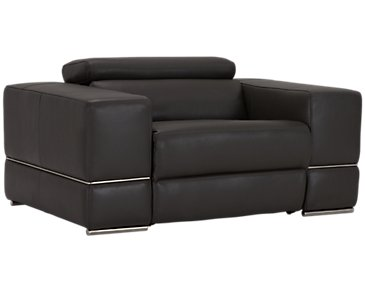 Dante Gray Leather Power Recliner