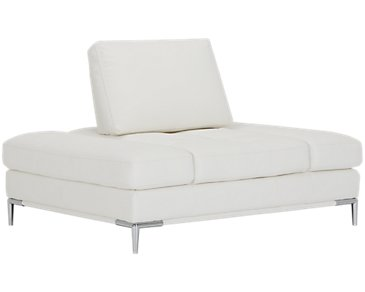 Francisco White Microfiber Chair