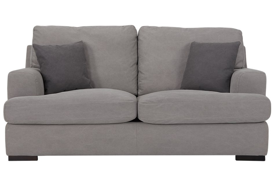 Strange Samson Light Gray Fabric Loveseat Living Room Loveseats Gmtry Best Dining Table And Chair Ideas Images Gmtryco