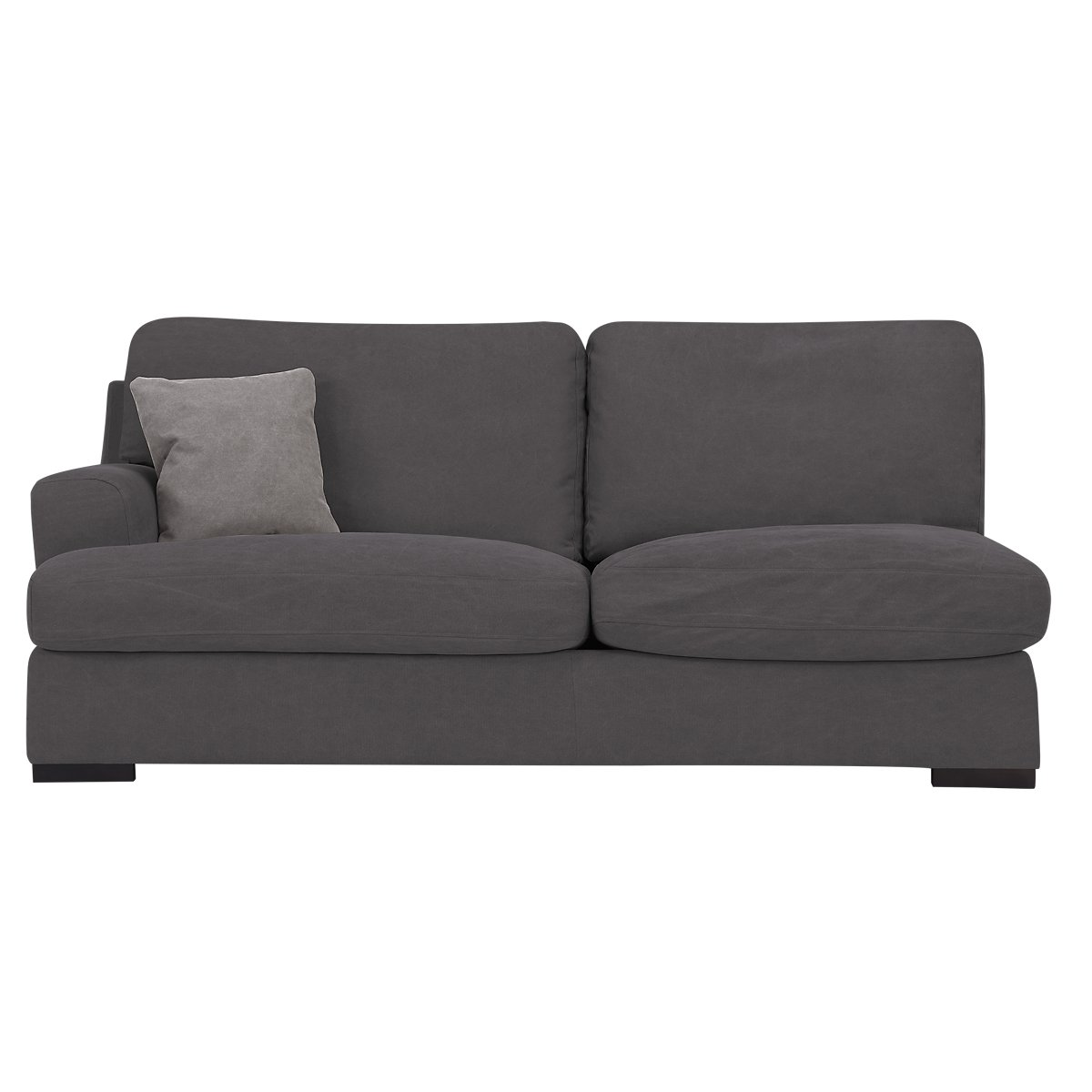 City Furniture Samson Dark Gray Fabric Small Two Arm