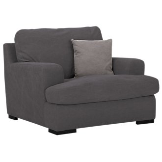 Samson Dark Gray Fabric Chair