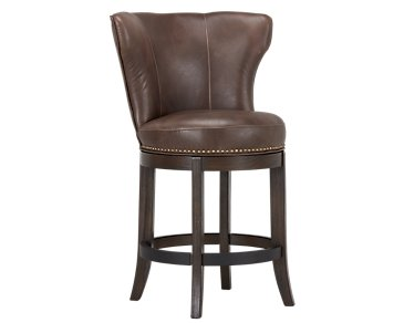 "Cayden Brown Microfiber 24"" Swivel Barstool"