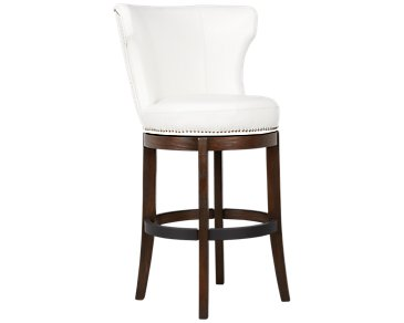 "Cayden White Bonded Leather 24"" Swivel Barstool"