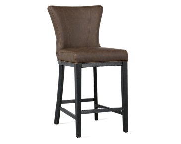 "Lori Dark Brown Microfiber 24"" Barstool"
