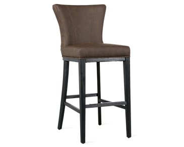 "Lori Dark Brown Microfiber 30"" Barstool"