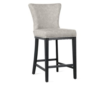 "Lori Light Gray Microfiber 24"" Barstool"