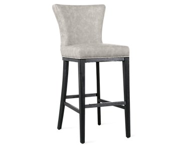 "Lori Light Gray Microfiber 30"" Barstool"