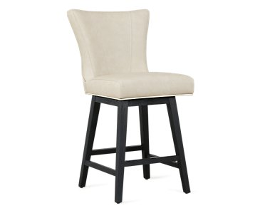 "Lori Light Taupe Microfiber 24"" Swivel Barstool"
