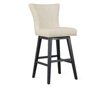 "Lori Light Taupe Microfiber 30"" Swivel Barstool"