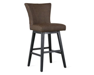 "Lori Dark Brown Microfiber 30"" Swivel Barstool"