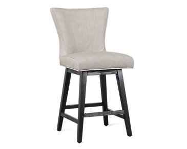 "Lori Light Gray Microfiber 24"" Swivel Barstool"