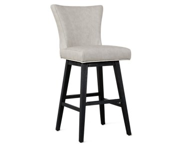 "Lori Light Gray Microfiber 30"" Swivel Barstool"