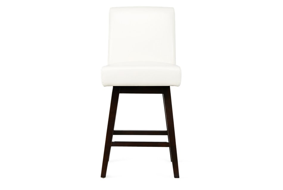 Super Lago White Bonded Leather 24 Swivel Barstool Dining Room Onthecornerstone Fun Painted Chair Ideas Images Onthecornerstoneorg