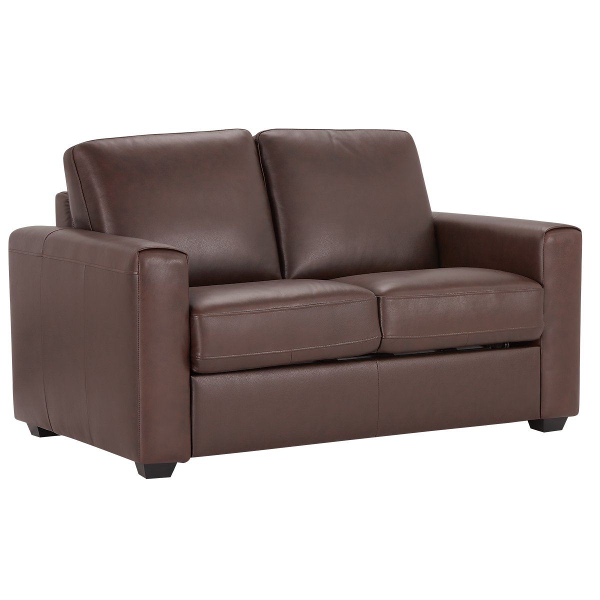 Lane Medium Brown Leather Amp Vinyl Loveseat