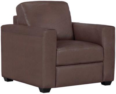 Lane Medium Brown Leather U0026 Vinyl Chair