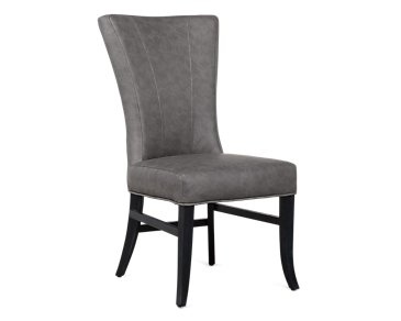 Lori Dark Gray Microfiber Side Chair