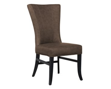 Lori Dark Brown Microfiber Side Chair