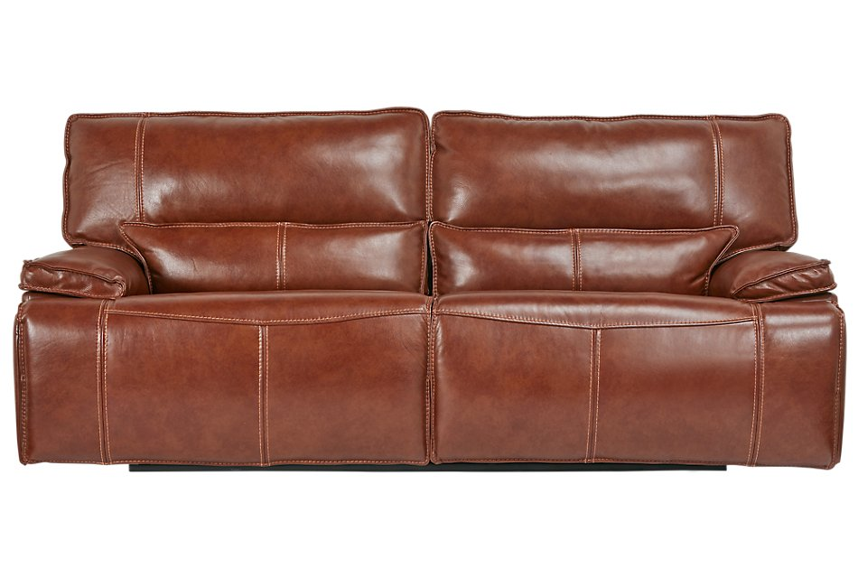 Strange Jesse Medium Brown Lthr Vinyl Power Reclining Sofa Living Creativecarmelina Interior Chair Design Creativecarmelinacom