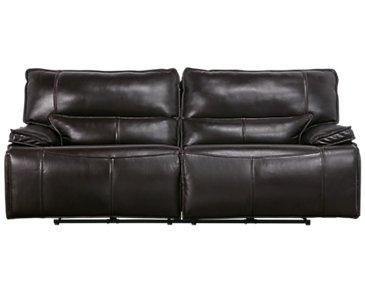 Jesse Dark Brown Leather Power Reclining Sofa