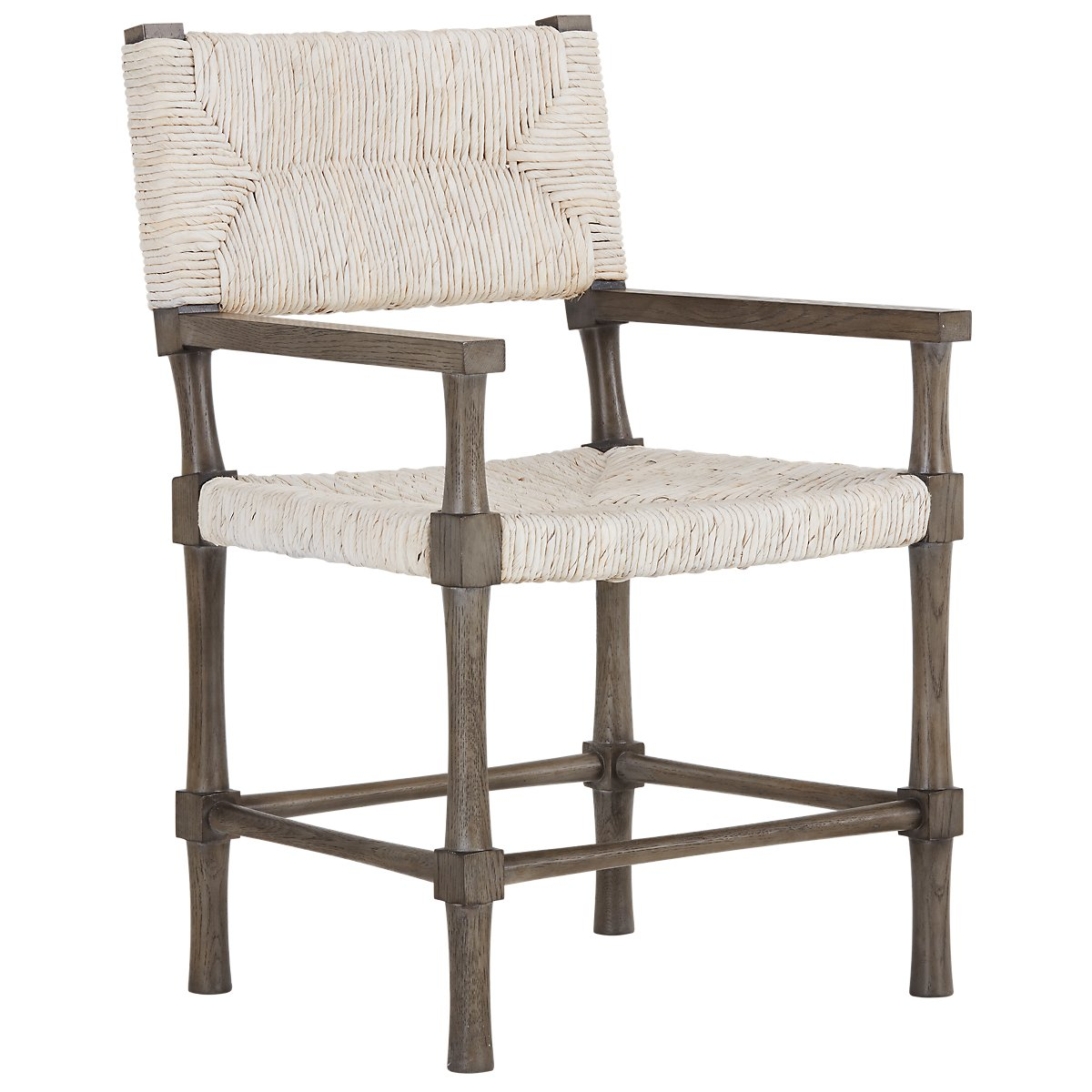 City furniture palma light tone woven arm chair for Furniture palma