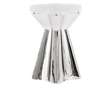Anika Glass Round End Table