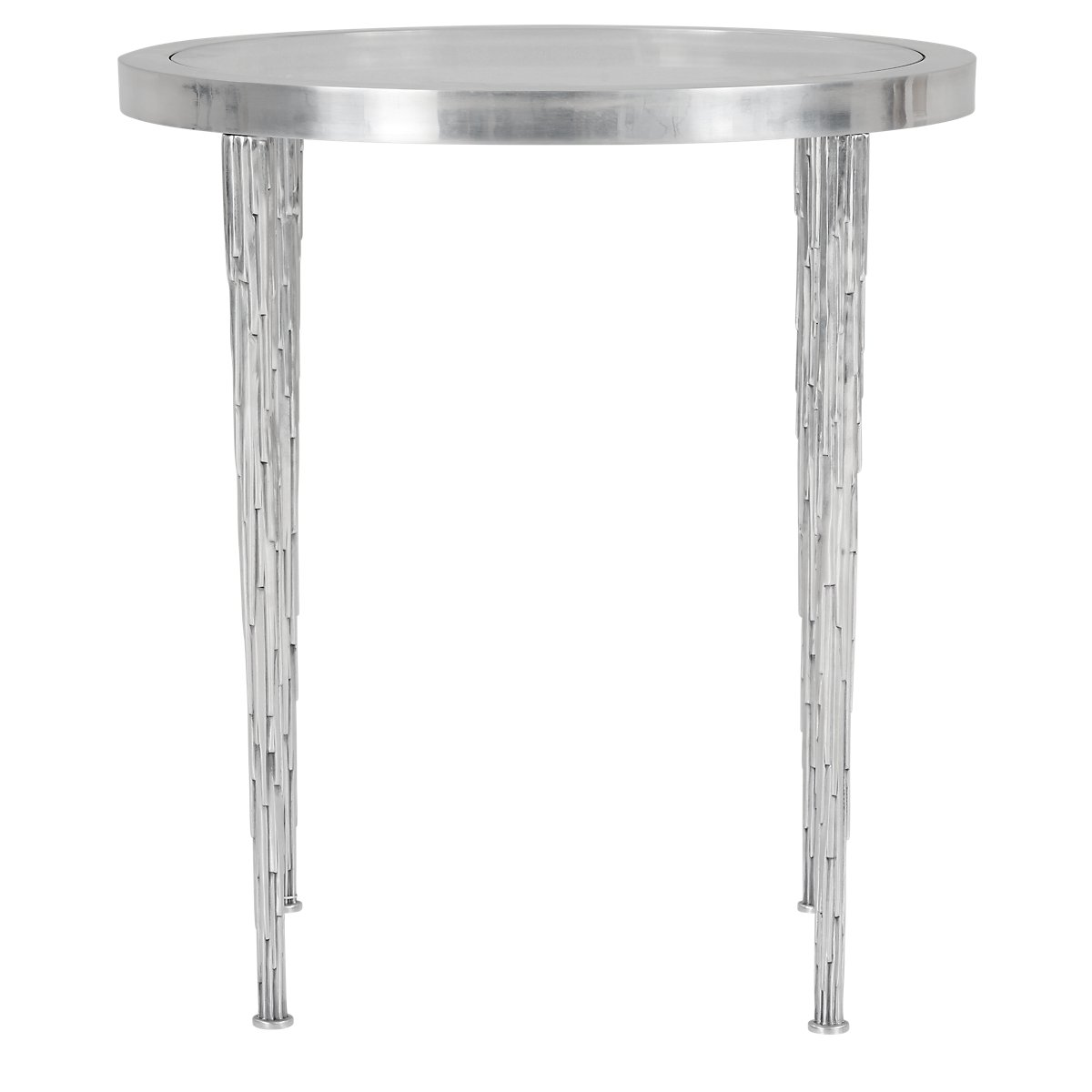 City Furniture Acton White Glass Round End Table