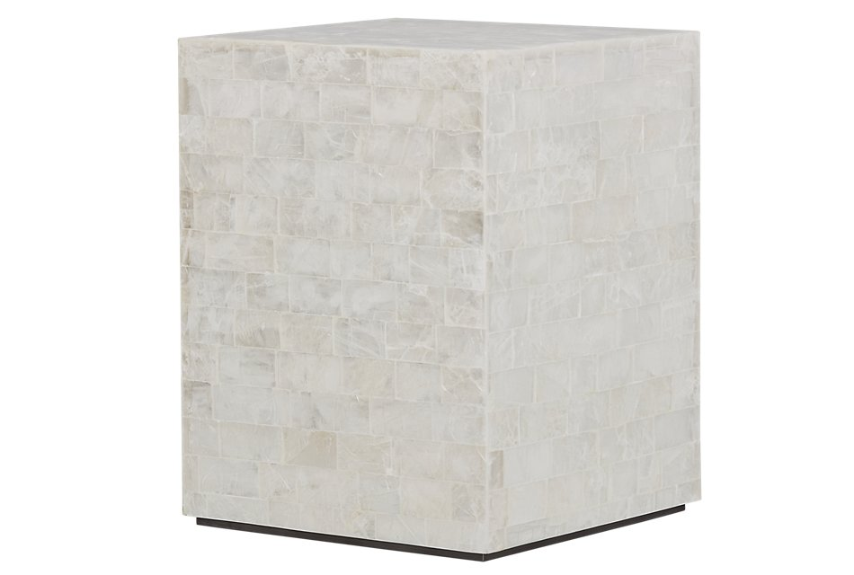 Levine Stone  Chairside Table