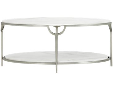 Morello Marble Oval Coffee Table