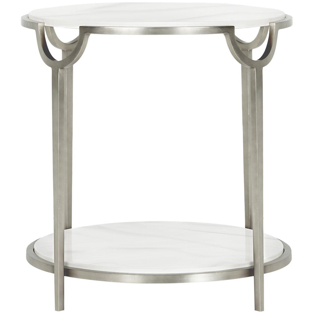 Morello Marble Round End Table