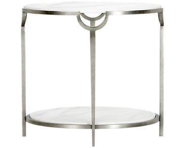 Morello Marble Oval End Table