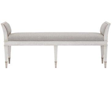 Domaine Light Tone Upholstered Bench