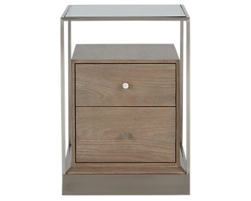Dempsey Light Tone End Table