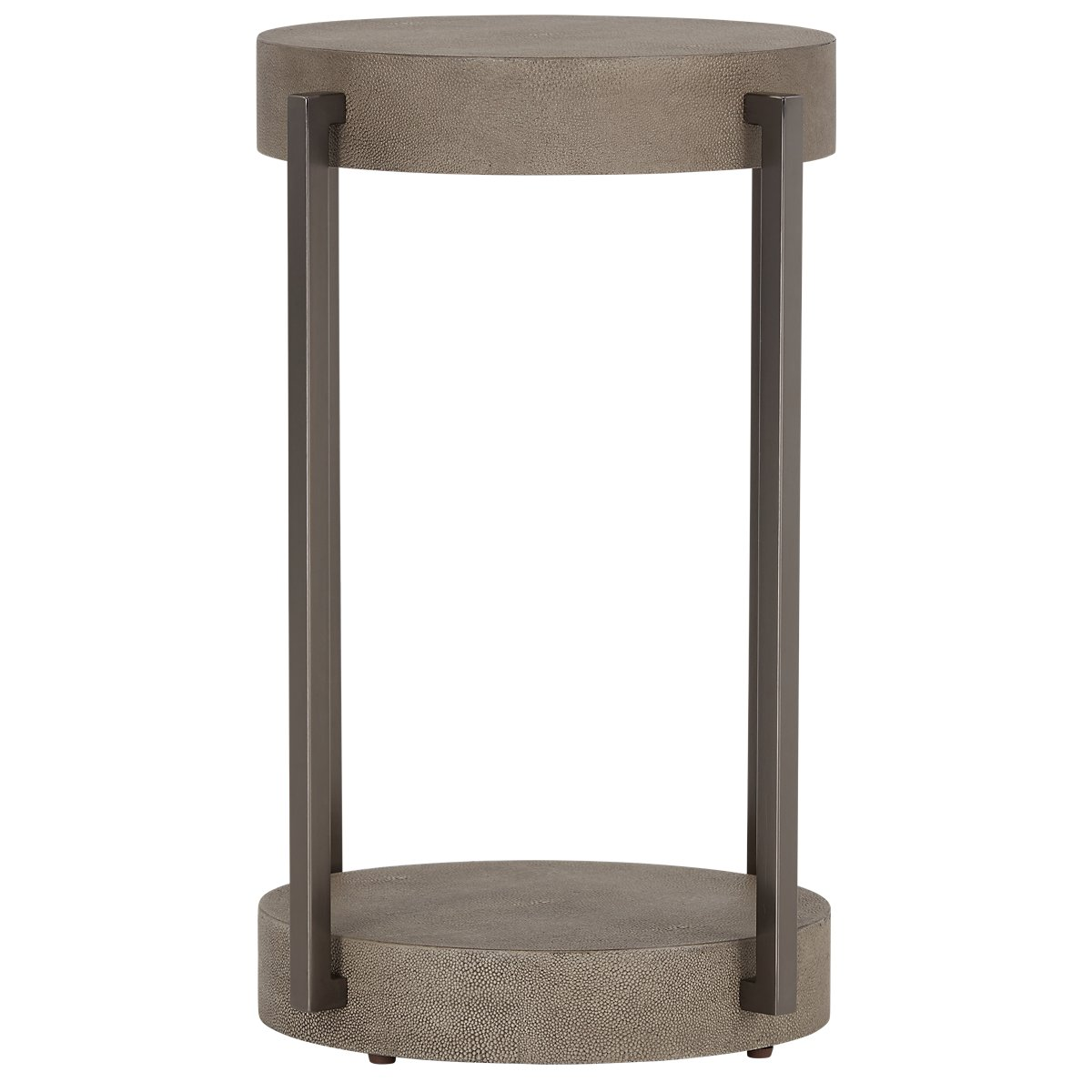 City furniture mosaic light tone wood round end table for Light wood side table