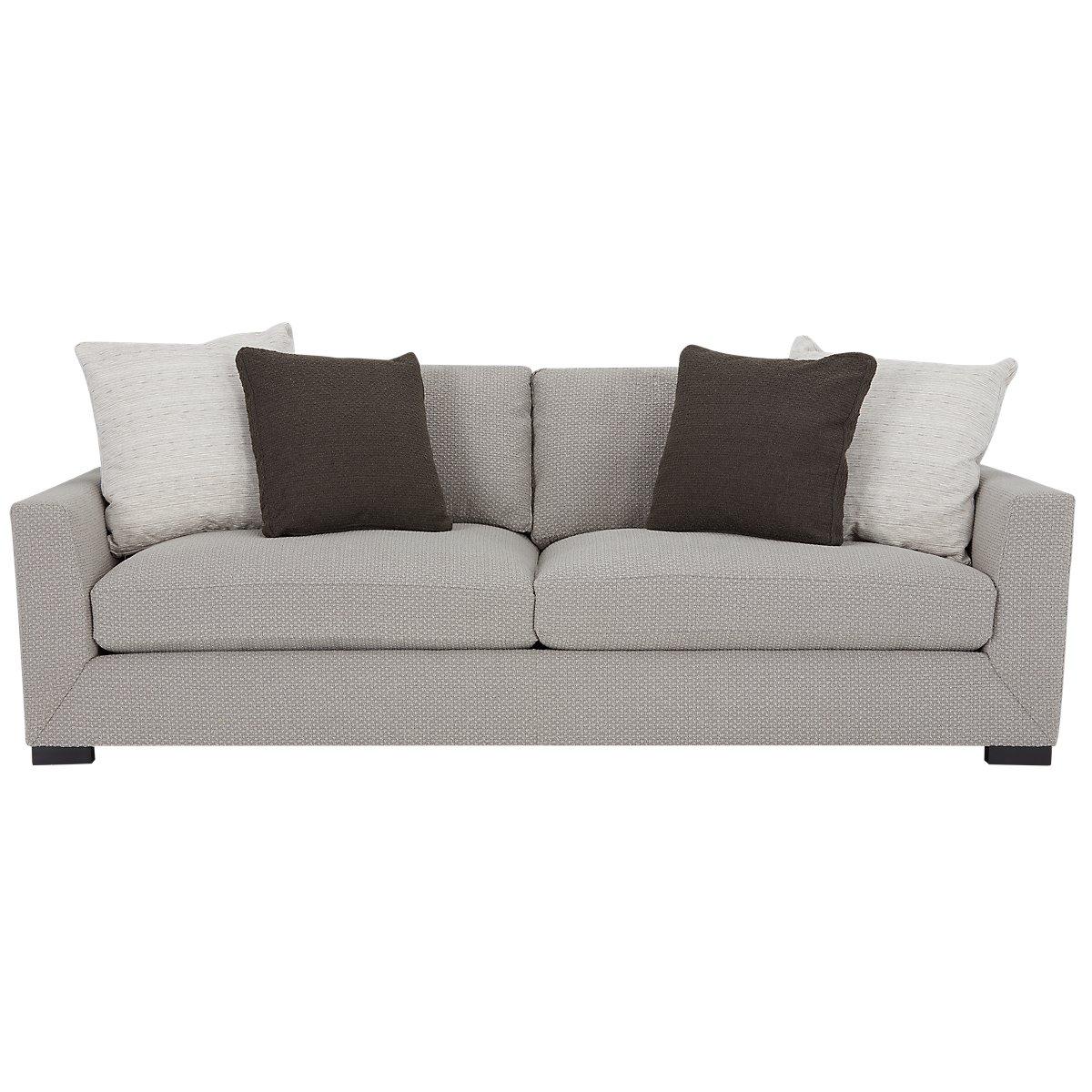 Light Gray Fabric Sofas Easy Home Decorating Ideas