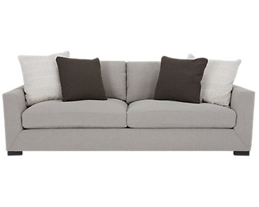 Nicolette Light Gray Fabric Sofa