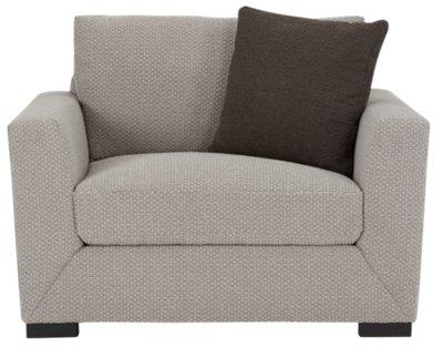 ... Nicolette Light Gray Fabric Chair