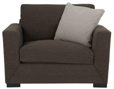 Attirant ... Nicolette Dark Gray Fabric Chair
